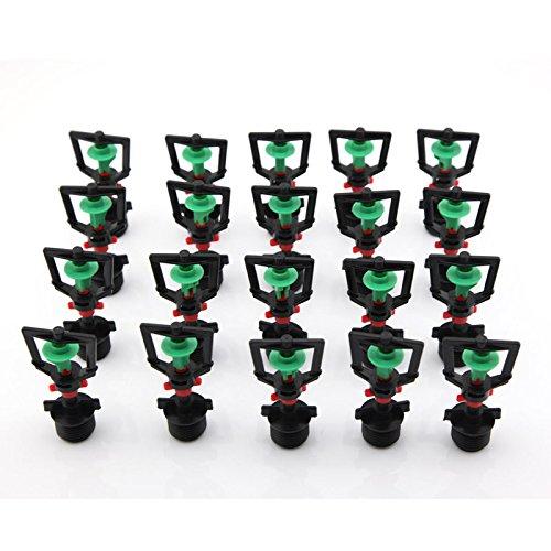 Emylo Micro Drip Garden Yard Lawn Spray Nozzle Misting Cooling Sprinkler System Mist 20pcs