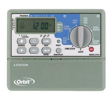 Orbit Irrigation Products Sprinkler System 4-Station Standard Indoor Mounted Control Timer 1