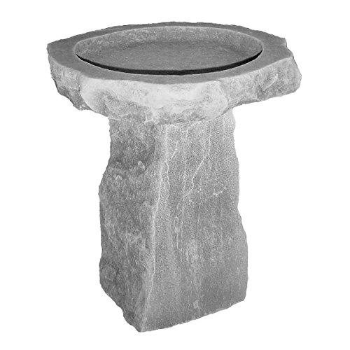 Glastonbury Manor Celtic Style Cast Stone Bird Bath