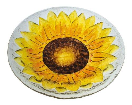 Evergreen GardenGlassBird Bath Sunflower18x18x275 Inches