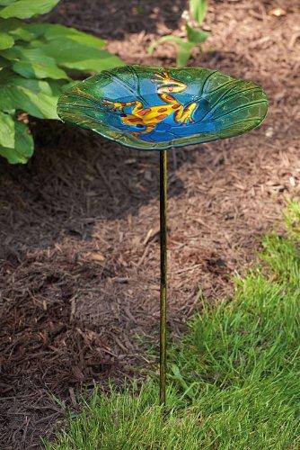 Frog Glass Birdbath