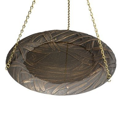 Whitehall Products Dragonfly Hanging Birdbath Copper Verdi