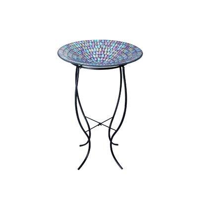 Alpine Corporation Birdbath Mosaic Blu Purp Yel Grs470a-18