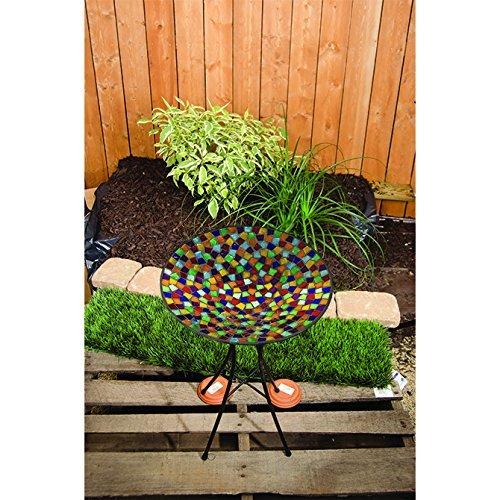 Carson 13 Multicolor Mosaic Bird Bath