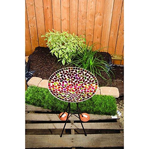 Carson 13&quot Multicolor Floral Mosaic Bird Bath