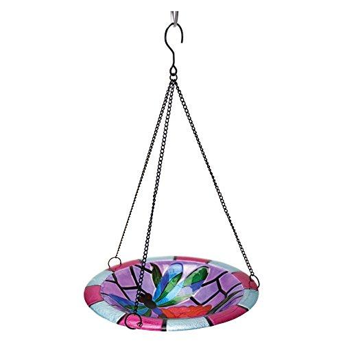 Exhart Mosaic Dragonfly Hanging Glass Bird Bath