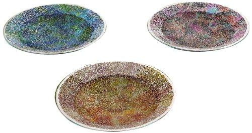 Gift Craft 24-inch Mosaic Glass Basin Design Birdbathsfeeders Medium