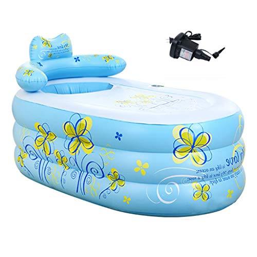Inflatable bathtub Full-Sized Inflatable Pools Adult Children Bathtubs Inflatable Thick Tub Folding Tub Large Bath Tub Color  Blue Size  1609075cm