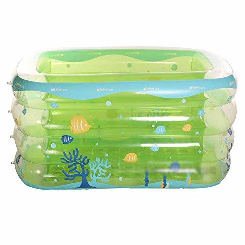 RHHWJJXB Bathtub Baby Pool Inflatable Baby Child Pool Large Thickening Insulation Home Marine Ball Pool Bathtub Including Air Pump Color  B