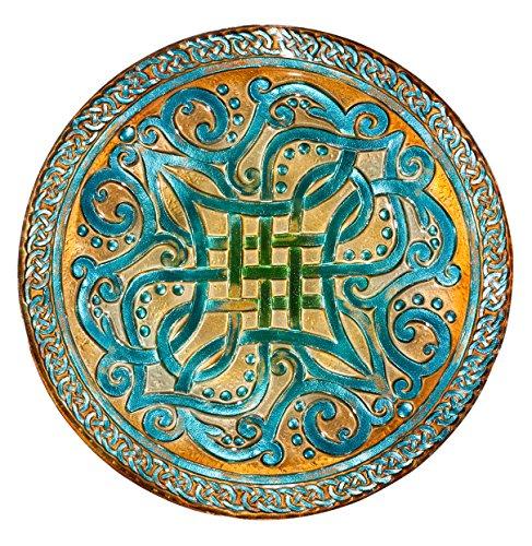 Celtic Knots 18&quot Glass Birdbath