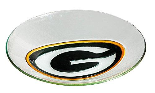 Green Bay Packers Glass Birdbath