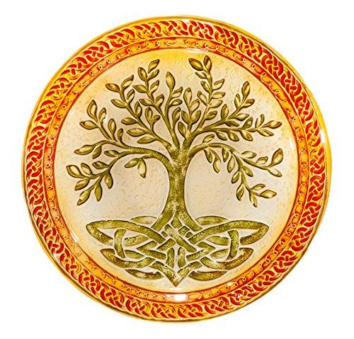 Tree of Life 18 Glass Birdbath