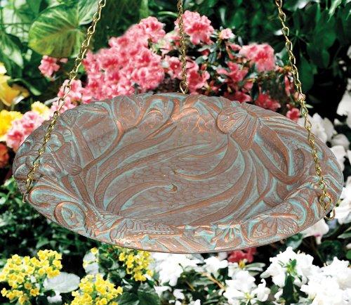 Whitehall Products Butterfly Hanging Birdbath Oil Rub Bronze