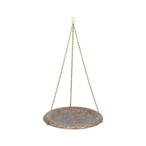 Whitehall Products Oakleaf Hanging Birdbath Copper Verdi