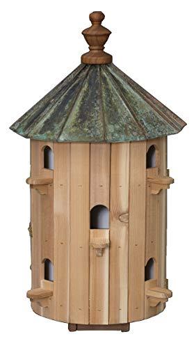 26 Cedar Birdhouse - 10 Room Patina Copper Top Finch Bird Condo House Amish Handcrafted in Lancaster Pennsylvania USA