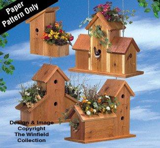 Cedar Birdhouse Planters Wood Plan