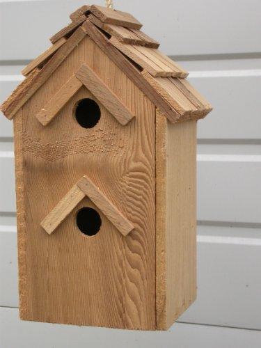 Cedarnest Cedar Birdhouse with 2 Seperate Compartments