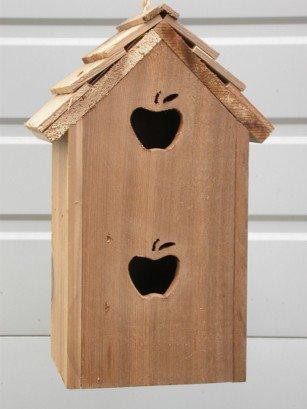 Cedarnest Cedar Birdhouse with 2 Seperate Compartments Apples