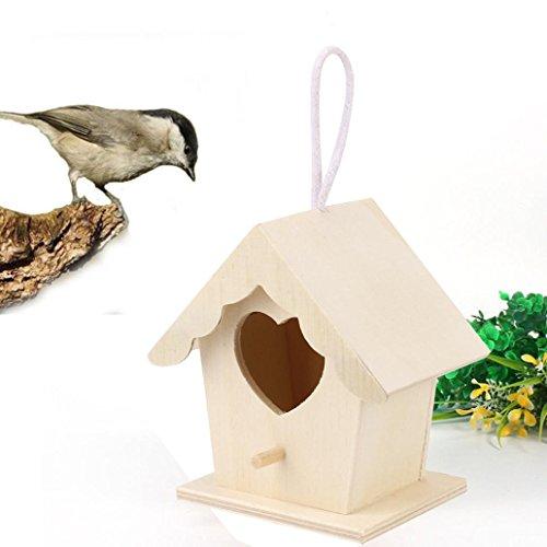 HP95 Wood Nest House Birds Wooden House Wren Home Cedar Birdhouse C