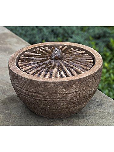 Campania International FT-268-BR M-Series Bamboo Fountain Brown Stone Finish