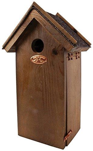 Esschert Design Antique Wash Chickadee Bird House with Asphalt Roof
