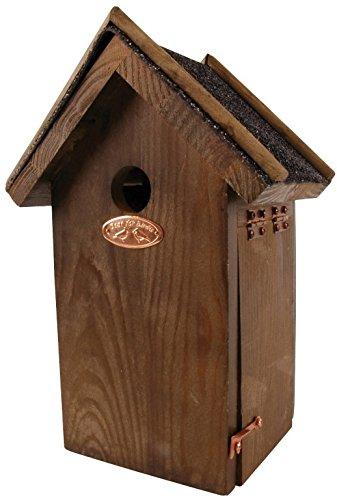 Esschert Design Chickadee Bird House - Antique Wash with Asphalt Roof