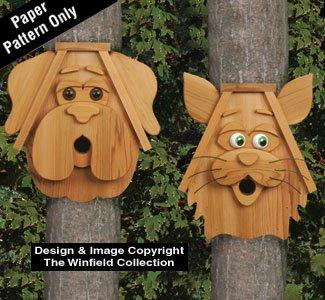Cedar Birdhouse Patterns - Catamp Dog