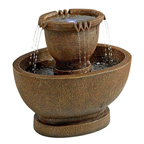 Design Toscano Richardson Oval Urns Cascading Garden Fountain Large