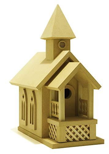 American Original Dollhouse DIY KIT Prairie Church Birdhouse Kit