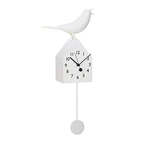 Torre Tagus Motion Birdhouse Bird Wall Clock 9x21x45 White