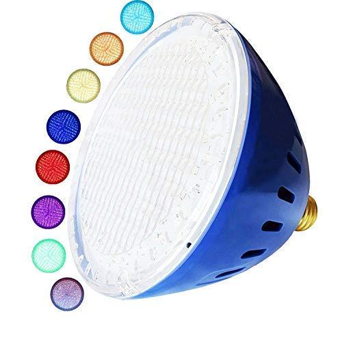 LAMPAOUS LED Pool Lights Bulb RGB Muliti Color LED Swimming Pool Lights E26 Base Par56 Under Water Lights Replacement Bulb 120VAC 35 Watt  Renewed