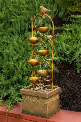 Alfresco Home Resin Pajaro Outdoor Fountain