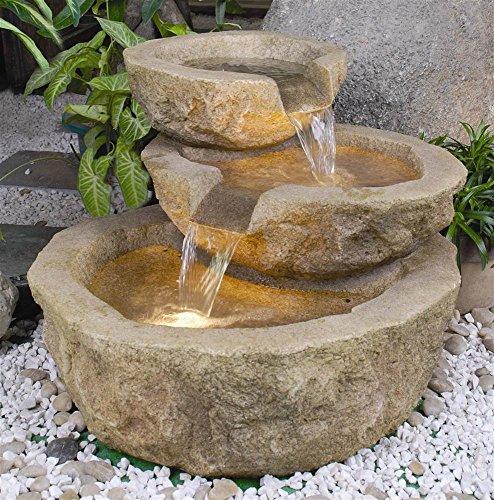 Alfresco Home Valgardena Resin  Fountain Brown