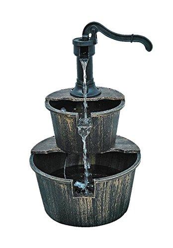 BACKYARD EXPRESSIONS PATIO · HOME · GARDEN 908729 Resin Barrel Fountain