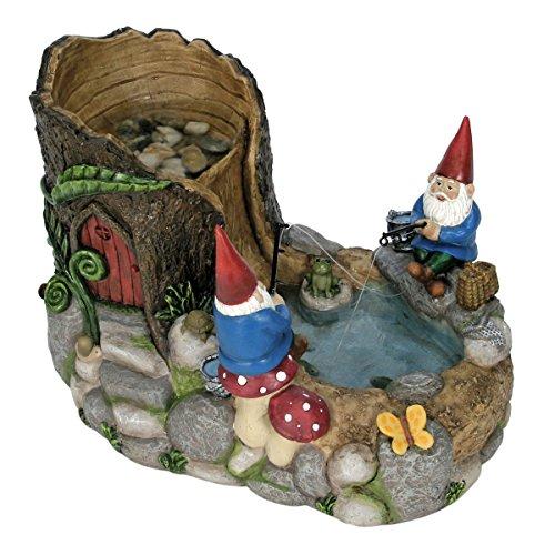 Natures Garden Gnome Fountain Resin