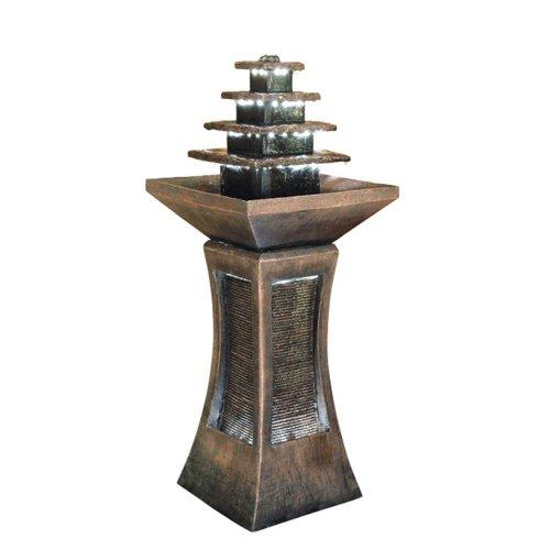 Ore International Pyramid Tiered Indoor  Outdoor Fountain
