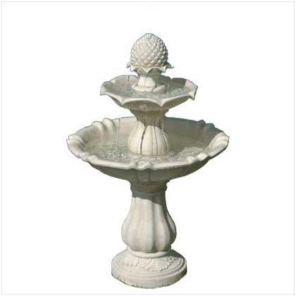 Stone-look Tiered Indooroutdoor Acorn Fountain