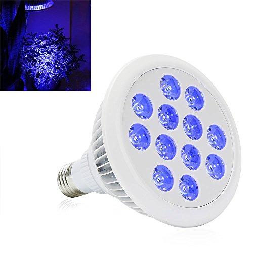 LED Grow Light BulbeSavebulbs 24W E27 Hydroponic Grow Light Bulbs12PCS Blue LedsIndoor Greenhouse Plants Veg Flower Growing LampAC 85V~265V