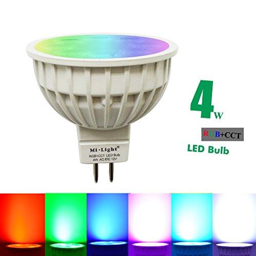 Mi-light Dimmable MR16 4W Led Bulb RGBCCT LED Spotlight Smart Home Led Light Bulb Lamp
