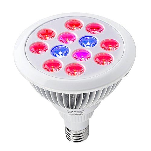 Taotronics 24w Led Grow Light Bulb  Grow Plant Light For Hydropoics Organic Mini Greenhouse 3 Bands