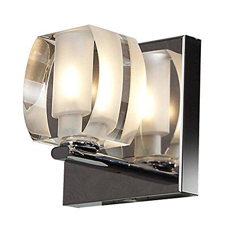 Evia 1-Light Crystal Vanity - Chrome Finish with Crystal Glass Shade