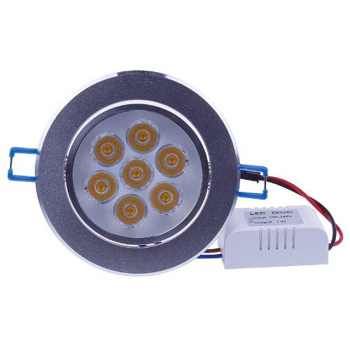 LEMONBESTÂ High Power 7W LED Downlight Spotlight Ceiling Light Recessed Lighting fixture Warm White
