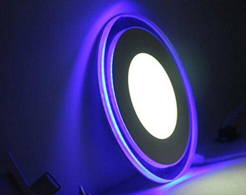 Ultrathin Round Double Color Whiteblue Led Panel Light Led Ceiling Light Led Downlights Led Recessed Lighting