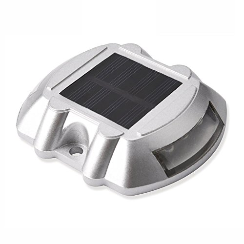 1x Jacky Led 2nd Generation Solar Powered Ultra Bright Durable Wireless Road Path Deck Dock Warning Lights Step