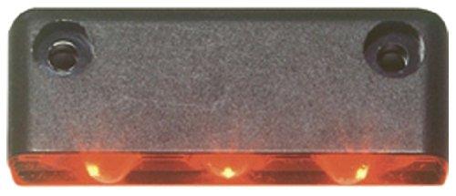 Innovative Lighting 003-1000-7 003 Series AmberBlack 3-LED Step Light with Surface Mount