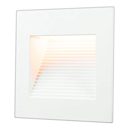 LED Inner Square Step Light 120 Volt Operation 1 Watt 3000 K Matte White cETLus