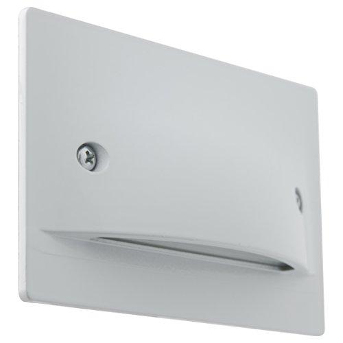 Sunlite LFXSLH3WW30K LED Step Light Horizontal Wall Mounted Fixture Damp Location Warm White 3000K White Finish