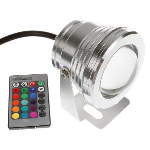 LEMONBESTÂ 10w 12v RGB Multi-color Ip67 LED Underwater Light Landscape Fountain Pond Lamp Bulb with Remote Control