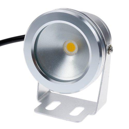 Lemonbest&reg 10w 12v Silver Led Underwater Flood Light Ip68 Waterproof Landscape Fountain Lamp Warm White