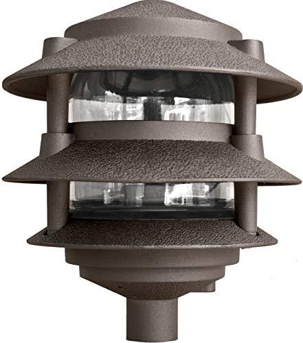 Dabmar Lighting D5000-BZ Pagoda Fixture 3 Tier Incand 120V Light Bronze Finish